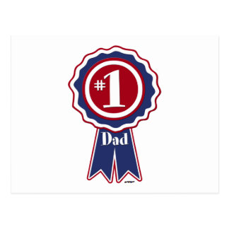 #1 Dad - Happy Father's Day Postcard