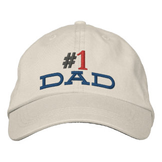 #1 dad hat stitched embroidered hats