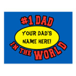 #1 Dad in the World Customise Father's Day Postcards