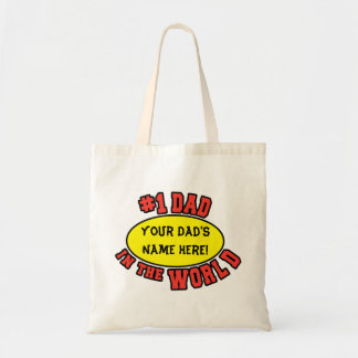 #1 Dad in the World Customize Father's Day Budget Tote Bag