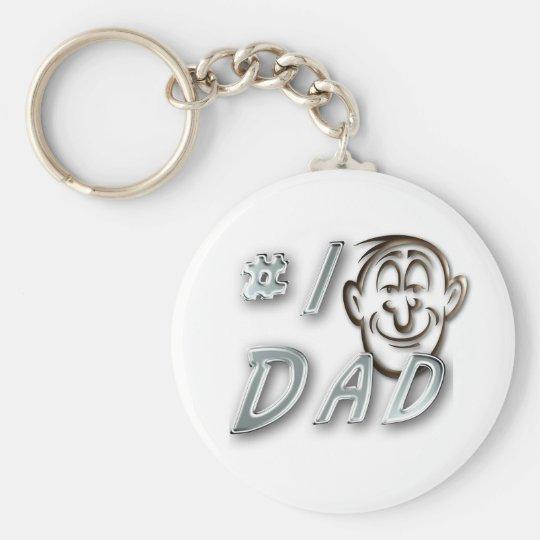 #1 Dad Key Ring