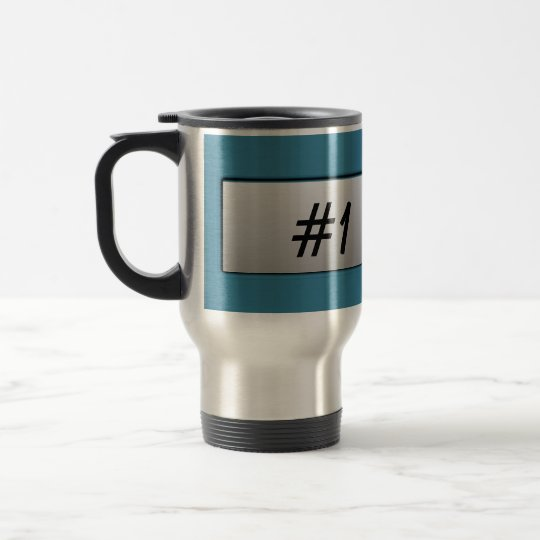 #1 Dad! Metal Nameplate Mug
