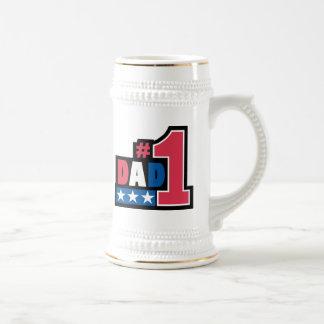 #1  Dad Coffee Mugs