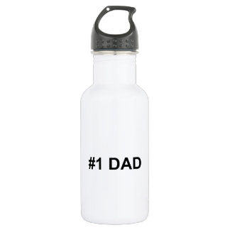 #1 Dad | Number 1 Dad | Happy Father's Day 532 Ml Water Bottle
