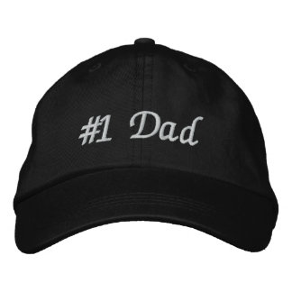 #1 Dad (Number One Dad) Father's Day Embroidered Baseball Caps