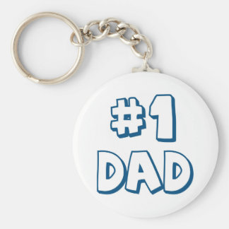 #1 Dad Number One Dad Father's Day Gifts Basic Round Button Key Ring