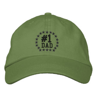 #1 DAD Number One Stars Embroidery Baseball Cap