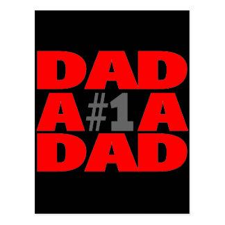 #1 Dad Postcard