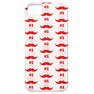 #1 Dad Red Mustache - Number One iPhone 5 Case