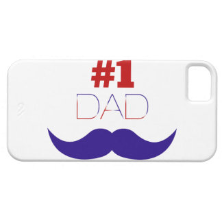 #1 Dad Red White and Blue Mustache - Number One Barely There iPhone 5 Case