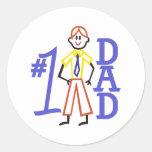 #1 Dad Round Sticker