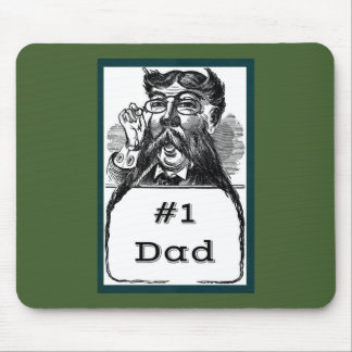 #1 Dad Vintage Drawing Mouse Pad
