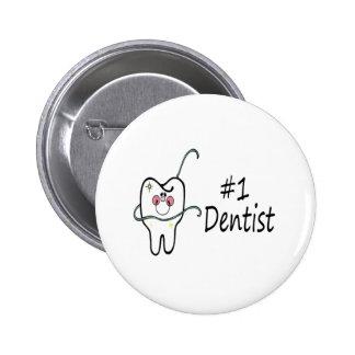 #1 Dentist 6 Cm Round Badge