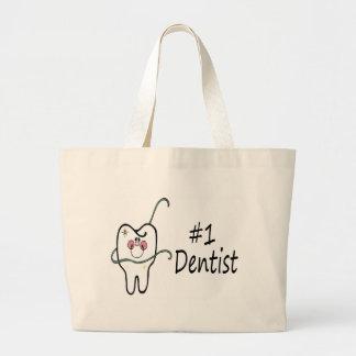 #1 Dentist Large Tote Bag