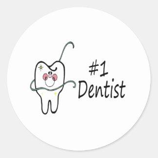 #1 Dentist Round Sticker
