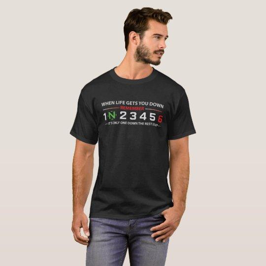 1 Down Rest Up biker T-Shirt