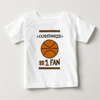 #1 Fan Basketball Customize it Tee Shirt