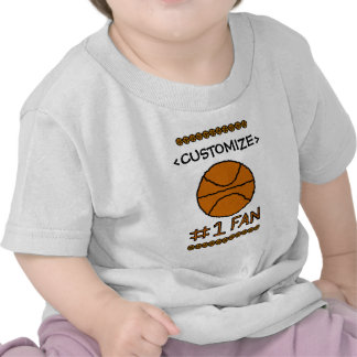 #1 Fan Basketball Customize it Tshirts