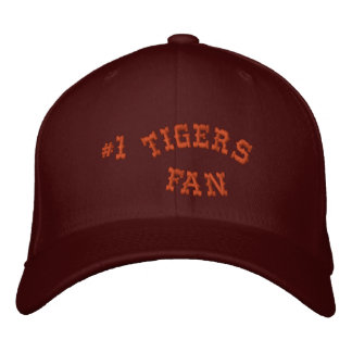 #1 Fan Maroon and Burnt Orange Basic Flexfit Wool Embroidered Hat