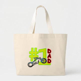 #1 Father's Day Chopper Dad The MUSEUM Zazzle Gift Tote Bag