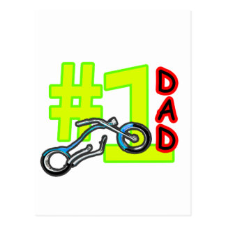 #1 Father's Day Chopper Dad The MUSEUM Zazzle Gift Post Cards