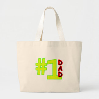 #1 Father's Day Yellow Red The MUSEUM Zazzle Gifts Bags