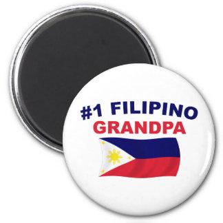 #1 Filipino Grandpa 6 Cm Round Magnet