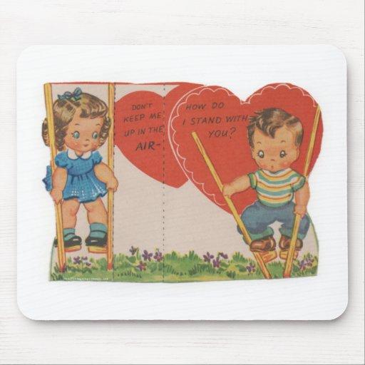 1 free vintage printable - cute kids valentine.jpg mousepad