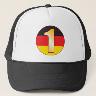 1 GERMANY Gold Trucker Hat