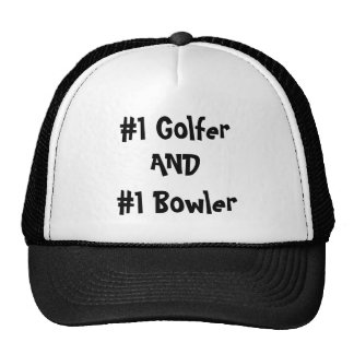 #1 Golfer AND #1 Bowler Hat