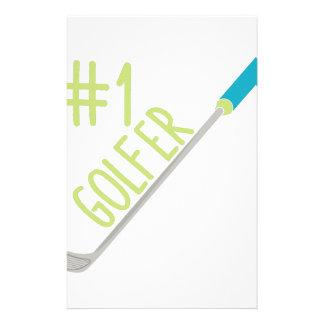 #1 Golfer Stationery