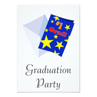 #1 Grad Card 13 Cm X 18 Cm Invitation Card