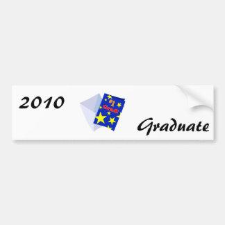#1 Grad Card Car Bumper Sticker