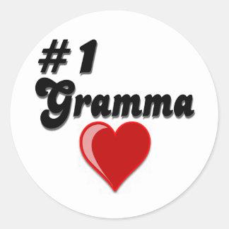 #1 Gramma Grandparent's Day Stickers