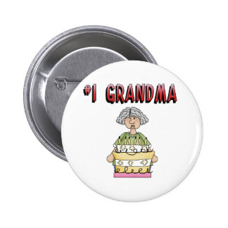 1 Grandma birthday Pinback Button