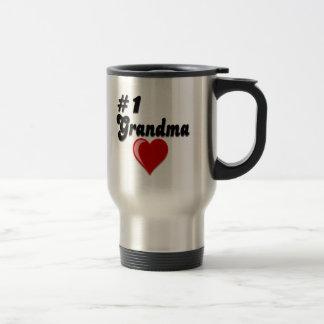 #1 Grandma Grandparent's Day Gifts Travel Mug