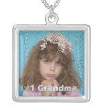 #1 Grandma Personalised  Photo Necklace