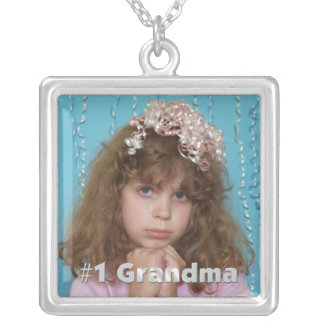 #1 Grandma Personalized  Photo Necklace