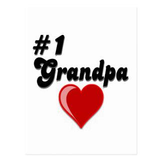 #1 Grandpa - Grandparent's Day Postcard