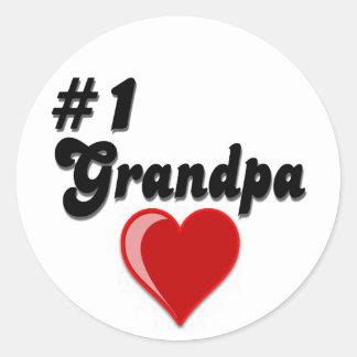 #1 Grandpa - Grandparent's Day Round Sticker