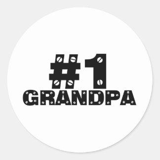 #1 Grandpa Stickers