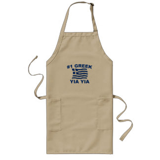 #1 Greek Yia Yia Long Apron