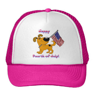 1- Happy Fourth of July! Mesh Hat