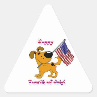 1- Happy Fourth of July! Triangle Sticker