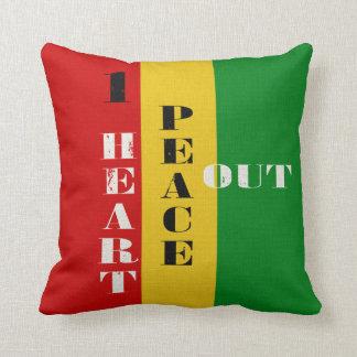 1 Heart Peace Out Rastah Skateboard Colors Cushions