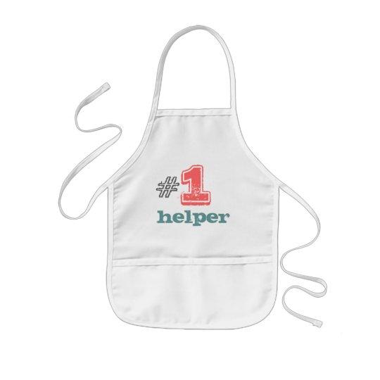 #1 helper kids apron unisex boy girl