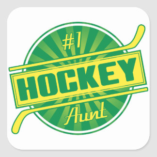 #1 Hockey Aunt Square Stickers