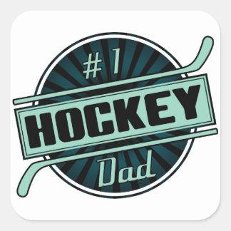 #1 Hockey Dad Square Stickers