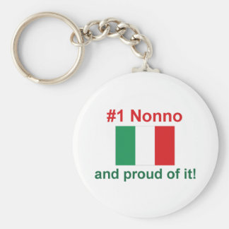 #1 Italian Nonno Key Ring