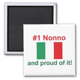 #1 Italian Nonno Square Magnet